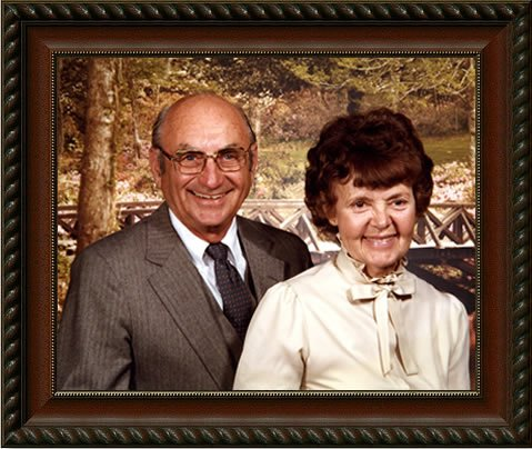 Portrait BPI Founder - Milford Barron and Wife Mary